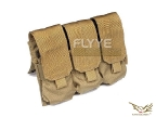 Flyye MOLLE Triple M16 Mag Pouch KH