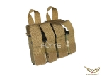 Flyye MOLLE Double M4 + Quad Pistol Mag Pouch MC