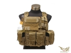Flyye MOLLE Style PC Plate Carrier with Pouch Set KH