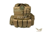 Flyye Force Recon Vest with Pouch Set Ver.MAR KH