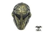 "FMA Wire Mesh ""Templar"" Mask (Gold) tb563"