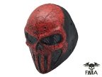"FMA Wire Mesh ""SKULL PUNISNER"" RED Mask tb574"