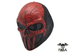 "FMA Wire Mesh ""SKULL PUNISNER"" RED Mask (Senior model)tb576"